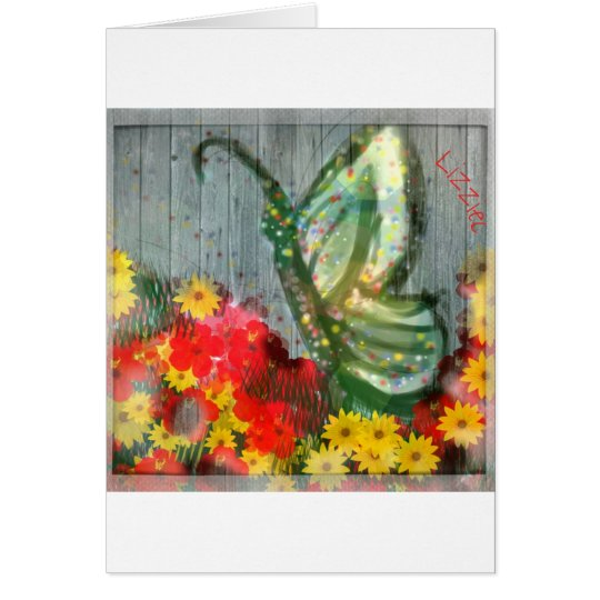Whisical Butterfly Illustration Card
