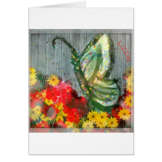 Whisical Butterfly Illustration Greeting Card