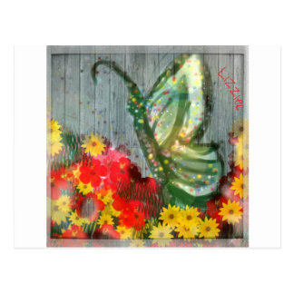 Whisical Butterfly Illustration Postcard