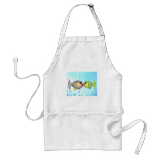 "Whisical Fish Art Gifts ""In Love"" by gail gabel Adult Apron"