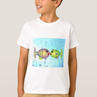 """Whisical Fish Art Gifts """"In Love"""" by gail gabel T-Shirt"""