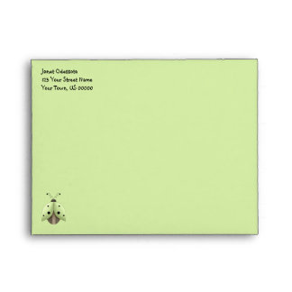Whisical Lime Green Lady Bug Envelopes