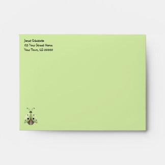 Whisical Lime Green Lady Bug Envelopes