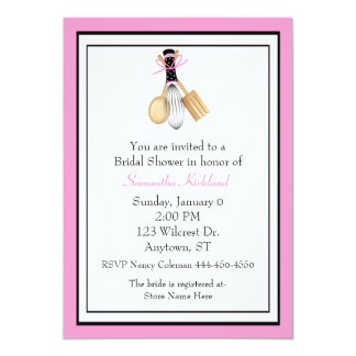 Whisk and Spoons Bridal Shower Invitation