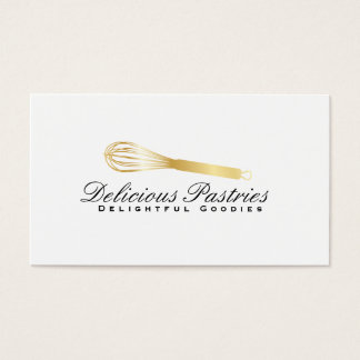 Whisk (gold) variation | Culinary Master Business Card