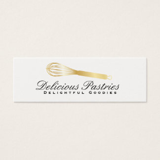 Whisk (gold) variation | Culinary Master Mini Business Card
