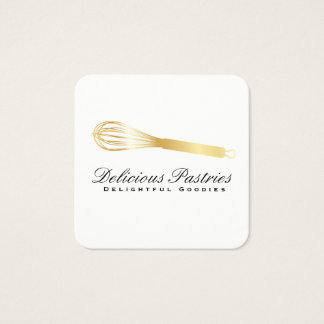 Whisk (gold) variation | Culinary Master Square Business Card