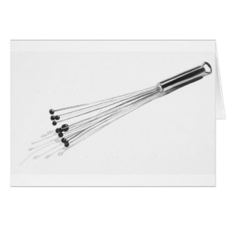 """""""Whisk"""" Kitchen Tool Watercolor Card"""