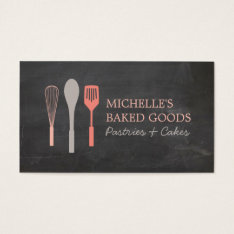Whisk Spoon Spatula Logo Bakery Business Card at Zazzle