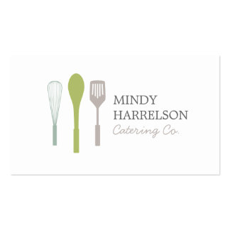 WHISK SPOON SPATULA LOGO I for Catering, Chef Business Card