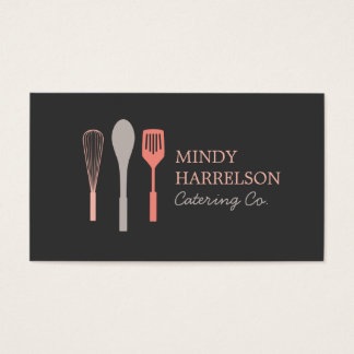WHISK SPOON SPATULA LOGO IV for Bakery, Catering Business Card