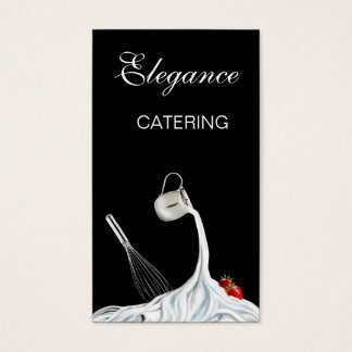 Whisk, Strawberries and Whipped Cream Food Art S-V Business Card
