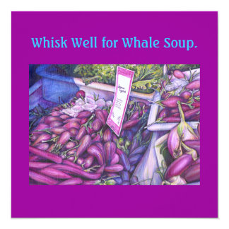 Whisk Well for Whale Soup Card