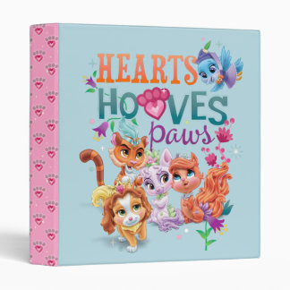 Whisker Haven | Hearts Hooves Paws Graphic 3 Ring Binder