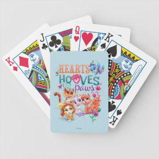 Whisker Haven | Hearts Hooves Paws Graphic Bicycle Playing Cards