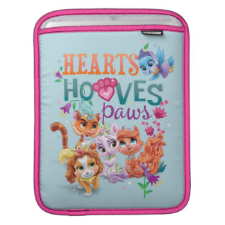 Whisker Haven | Hearts Hooves Paws Graphic Sleeve For iPads
