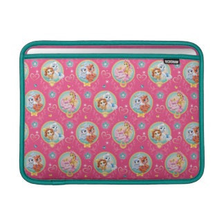 Whisker Haven | Hearts Hooves Paws Pattern MacBook Sleeve