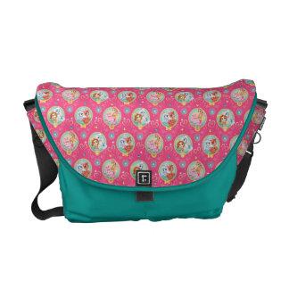 Whisker Haven | Hearts Hooves Paws Pattern Messenger Bag