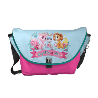 Whisker Haven   Royalty at Play Graphic Courier Bag