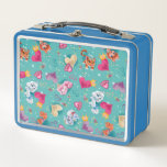 """Whisker Haven   Unleash the Fun Pattern Metal Lunch Box<br><div class=""""desc"""">In the world of Palace Pets, all of the animals interact with their Princesses as royal pets. The animals are all bound to behaving as pets only. However, Whisker Haven is a whole new world for the Palace Pets. Here, they speak, have activities, go on adventures, and befriend Palace Pets...</div>"""