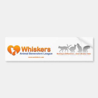 Whiskers bumper sticker car bumper sticker