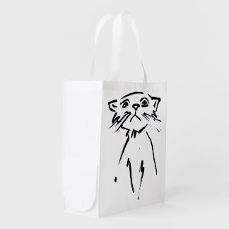 Whiskers Down Reusable Grocery Bag