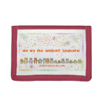 whiskers' fireworks cats nylon wallet