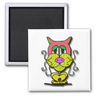 Whiskers 2 Inch Square Magnet
