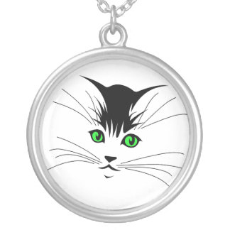 Whiskers Round Pendant Necklace