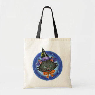 Whiskers the Halloween Cat Trick or Treat Tote Bag