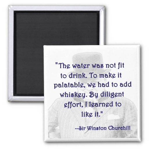 Whiskey and Churchill Fridge Magnet
