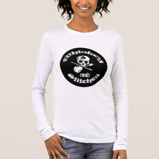 Whiskey and Stitches Ladies Long sleeve Tee