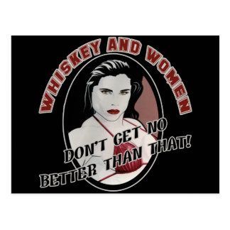 Whiskey And Women Beer T-shirts Gifts Postcard