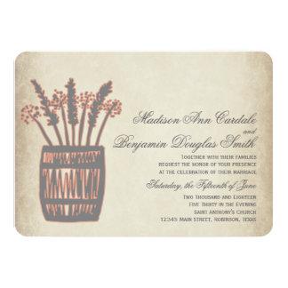 Whiskey Barrel of Wheat Rustic Wedding Invitations