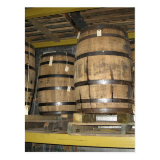 Whiskey Barrels Postcard