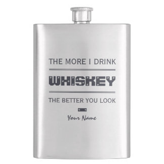 WHISKEY custom monogram flask
