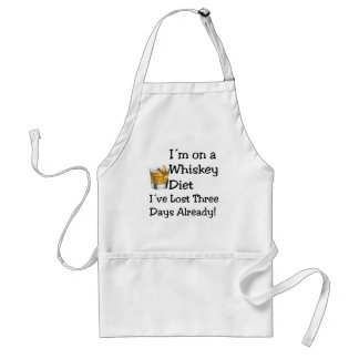 Whiskey Diet Adult Apron