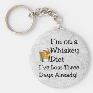 Whiskey Diet Basic Round Button Keychain