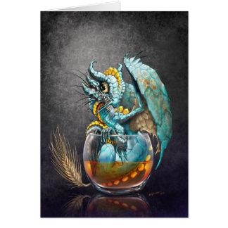 Whiskey Dragon Greeting Card