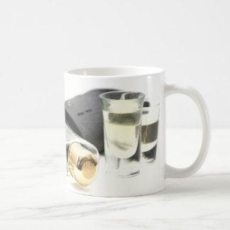 Whiskey Flask and Shot Glasses Coffee Mug