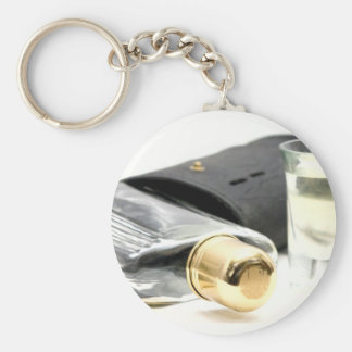 Whiskey Flask and Shot Glasses Key Chain