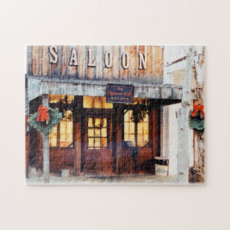Whiskey Flat Saloon Gold Country Jigsaw Puzzle