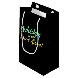 Whiskey is my spirit animal small gift bag