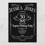 """Whiskey Label 30th Birthday Invitation<br><div class=""""desc"""">This take on the classic 'Whiskey Label' is perfect for any milestone birthday party celebration. Easy to personalize with the person's age and party details.</div>"""