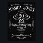 "Whiskey Label 30th Birthday Invitation<br><div class=""desc"">This take on the classic 'Whiskey Label' is perfect for any milestone birthday party celebration. Easy to personalize with the person's age and party details.</div>"