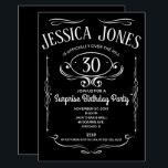 """Whiskey Label Over The Hill Invitation<br><div class=""""desc"""">This take on the classic 'Whiskey Label' is perfect for any over the hill birthday party celebration. Easy to personalize with the person's old age and party details.</div>"""