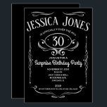 "Whiskey Label Over The Hill Invitation<br><div class=""desc"">This take on the classic 'Whiskey Label' is perfect for any over the hill birthday party celebration. Easy to personalize with the person's old age and party details.</div>"