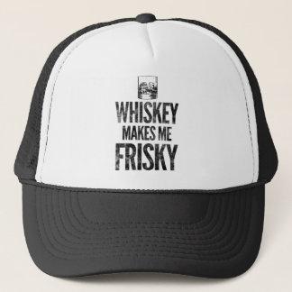 Whiskey Makes Me Friskey Trucker Hat
