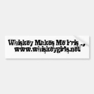Whiskey Makes Me Frisky Bumper Sticker