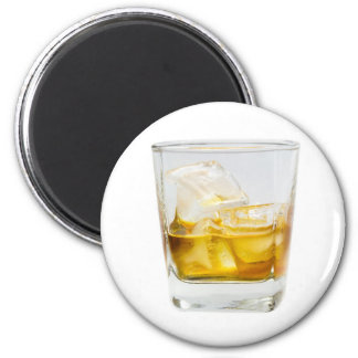 Whiskey on the rocks 2 inch round magnet
